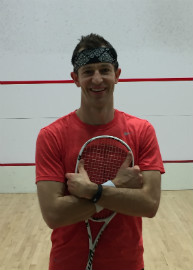 Dr. Jacob M. Peters playing squash