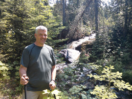 Dr. Robert R. Stroope hiking