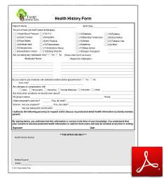 New Patient Health History Form PDF