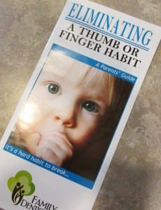 photo of Thumb sucking brochure