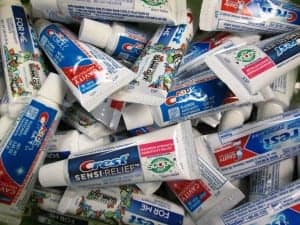 photo of different kinds of toothpaste