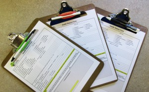 photo of health history forms