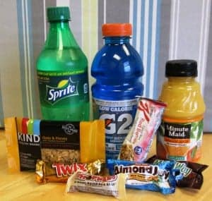 photo of sugary and acidic foods and beverages
