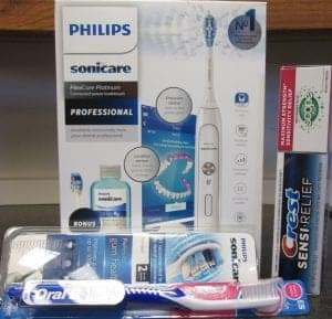 electric toothbrush, soft toothbrush, sensitive toothpaste