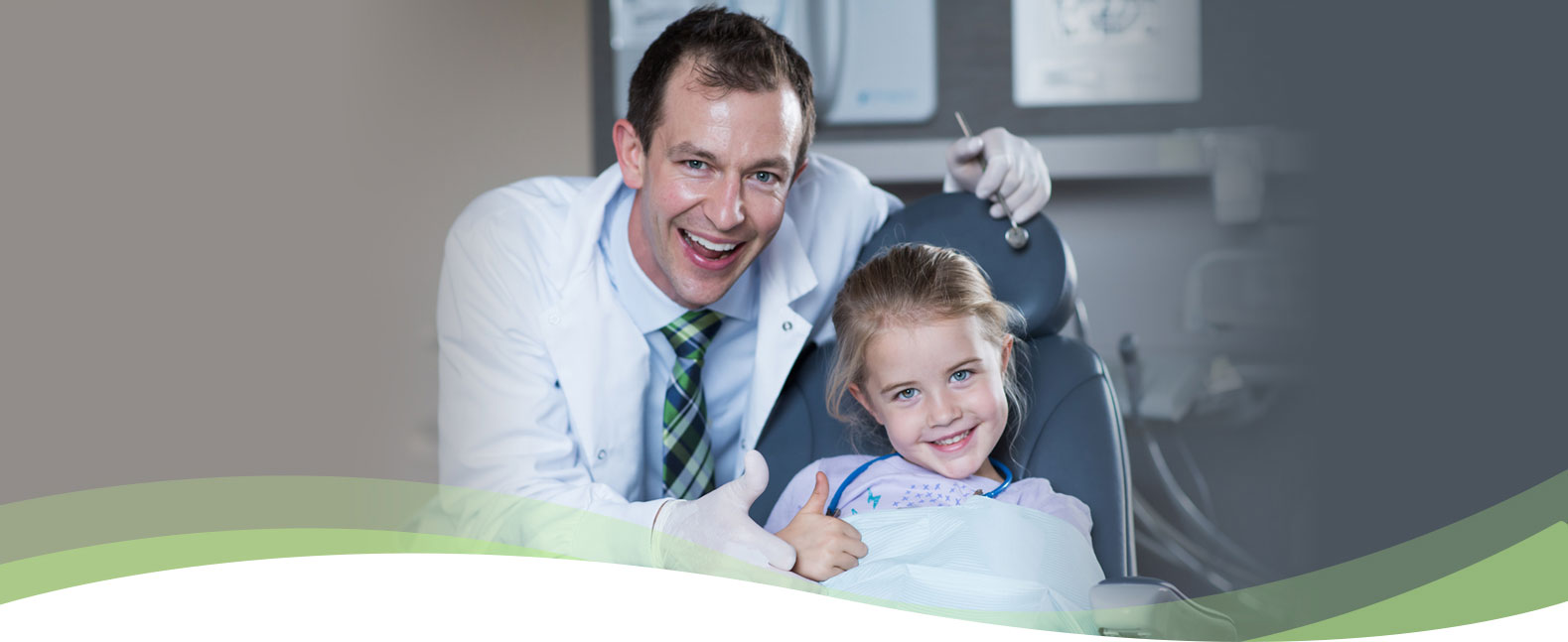 dentist with young patient